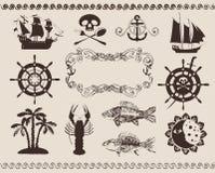 Морская тема Стоковые Изображения RF