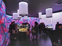 Морская флора и фауна в танке на аквариуме Nifrel в Японии, популярной туристической достопримечательности Стоковая Фотография RF