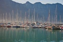 Морская шлюпка на пристани в Южной Африке Стоковое Изображение RF