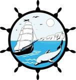 Морская эмблема Стоковое Изображение RF