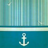 Морская striped старая предпосылка иллюстрация вектора