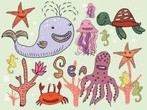 Морские животные бесплатная иллюстрация