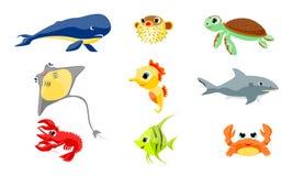 Морские животные иллюстрация штока