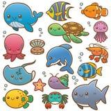 Морские животные иллюстрация вектора