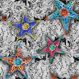 Морские звёзды акварелями бесплатная иллюстрация