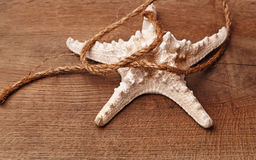Морские звёзды на деревянном столе Стоковые Изображения