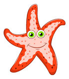 Морские звёзды шаржа Стоковое Изображение RF