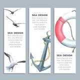 Морские знамена Стоковые Изображения