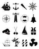 Морские значки Стоковое Изображение