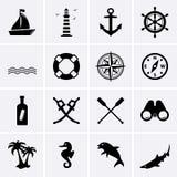 Морские значки Стоковое фото RF