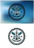 Морские значок или эмблема мастера Стоковые Фото