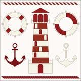 Морские иконы Стоковое Изображение