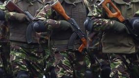 Морские пехотинцы с винтовками акции видеоматериалы