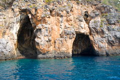 Морские пещеры, Италия Стоковые Изображения RF