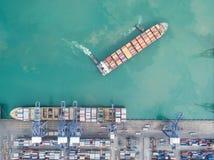 Морские порты ландшафта на времени дня Стоковое фото RF