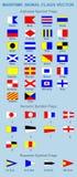 Морские сигнальные флаги Стоковая Фотография