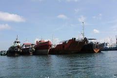 Морские сосуды паркуя в Бали, Индонезии Стоковые Фотографии RF