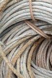 морские старые веревочки стоковые фото