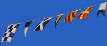 Морские флаги Стоковые Фото