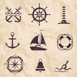Морские элементы дизайна Стоковое Фото
