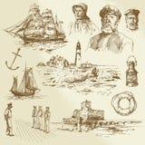 Морские элементы Стоковые Изображения