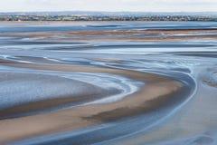 Морское побережье во время отлива Стоковое Фото