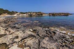 Морское побережье Кипр пафос Стоковое Изображение