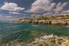 Морское побережье Кипр пафос Стоковое Изображение RF
