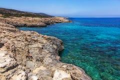 Морское побережье Кипр пафос Стоковая Фотография RF