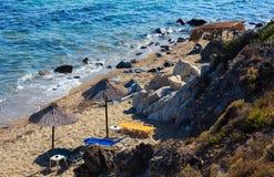 Морское побережье Halkidiki лета, Греция Стоковое фото RF