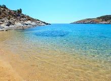 Морское побережье Halkidiki лета, Греция Стоковые Изображения