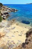 Морское побережье Halkidiki лета, Греция Стоковая Фотография