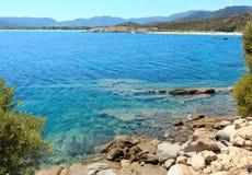 Морское побережье Halkidiki лета, Греция Стоковая Фотография RF