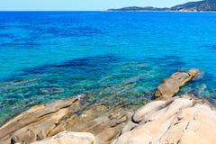 Морское побережье Halkidiki лета, Греция Стоковое Фото