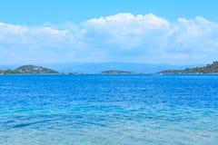 Морское побережье Sithonia лета, Греция Стоковые Изображения RF