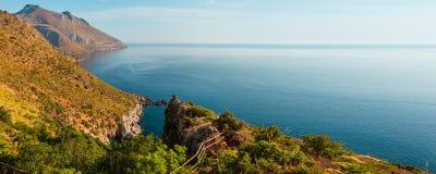 Морское побережье Zingaro, Сицилия, Италия Стоковое Изображение RF