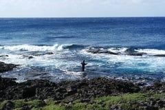 Морское рыболовство в пляже Kenting Стоковое Изображение RF