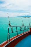 Морское рыболовство от шлюпки, Стоковая Фотография