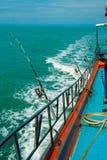 Морское рыболовство от шлюпки, Стоковое Изображение RF