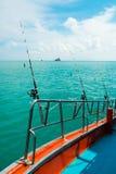 Морское рыболовство от шлюпки, Стоковое Изображение