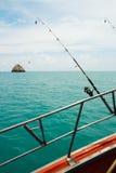Морское рыболовство от шлюпки, Стоковая Фотография RF