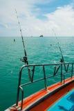 Морское рыболовство от шлюпки, Стоковое Фото