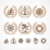 Морское собрание символа Стоковое Изображение