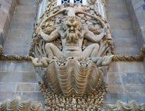 Морское чудовище в дворце Pena, Sintra, Португалии Стоковое фото RF