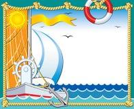морское photoframe Стоковая Фотография RF