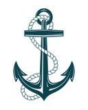 Морской анкер с веревочкой стоковая фотография rf
