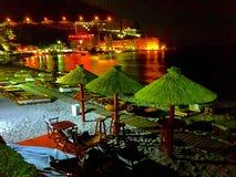 Морской замок на ноче Стоковое фото RF
