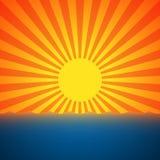 Морской заход солнца Стоковая Фотография