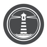 Морской значок маяка Стоковое Изображение