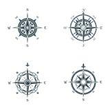 Морской или морской старый компас навигации Год сбора винограда моря или океана или ретро ветер подняли для направления или долго Стоковые Изображения